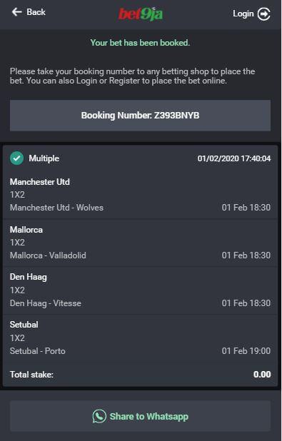How to book a bet on bet9ja nemzeti sport online f1 betting