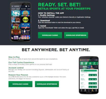 Bet9ja old mobile download app pc